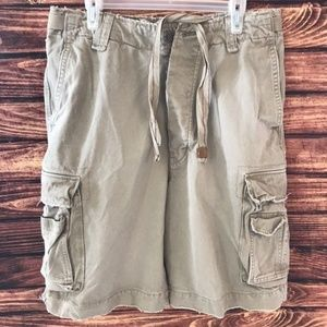 Ezra Fitch Tan 100% Cotton Cargo Shorts